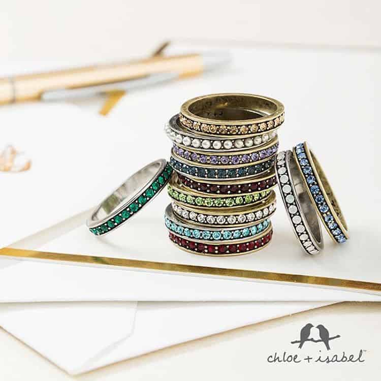{Oprah's Favorite Things } Pave birthstone stacking rings, originally $22 each, now 20 percent off with code OPRAH, or $48 for set of 3! Shop here : Https://www.chloeandisabel.com/boutique/everafterwoods #oprahsfavoritethings #oprahsfavorite #oprahsfavoritethings2015