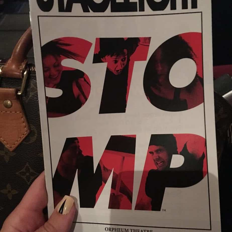 Here we go! @stompnyc we are so excited for a great show! #stompnyc