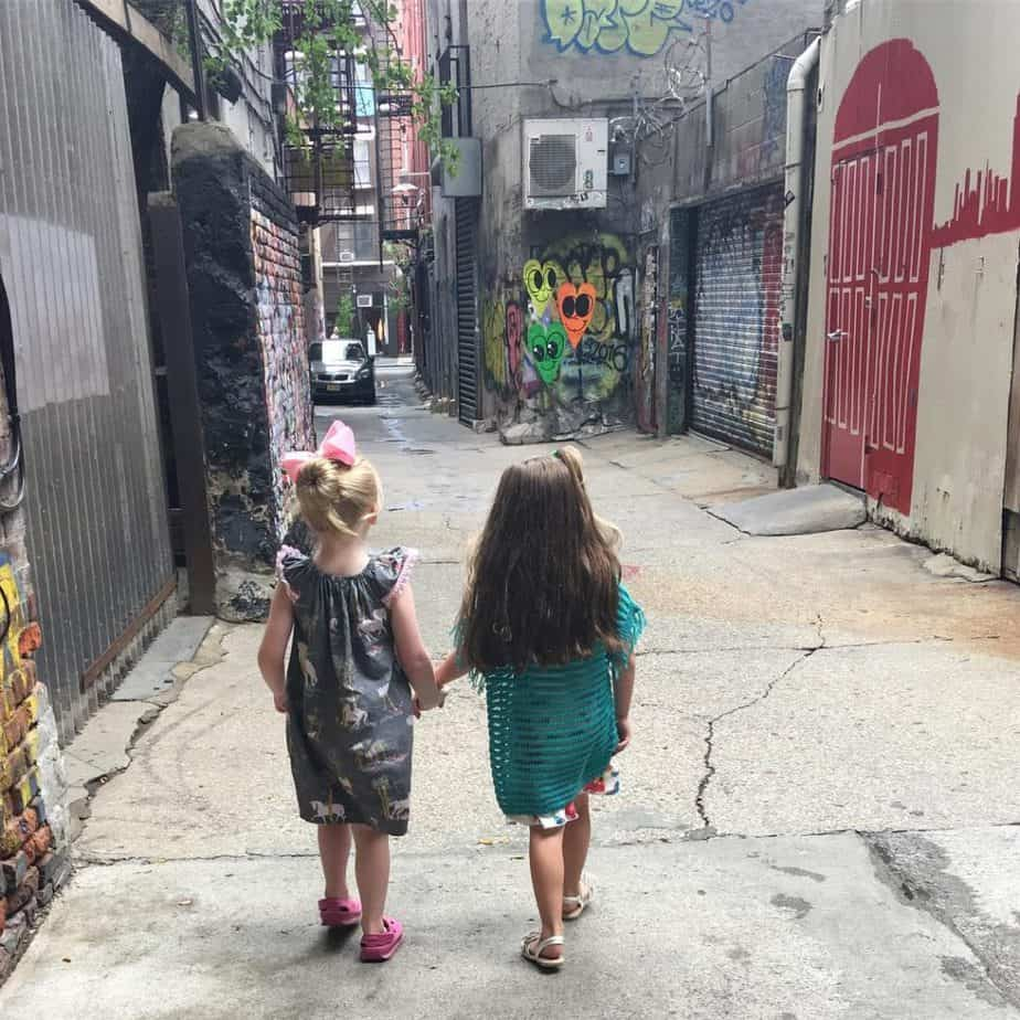 "Ok so freeze this moment right here. My daughter and her ""bestie "" who happens to be the daughter of my bestie. At this moment right here - I feel blessed. #blessed #nyc #freemanalley"