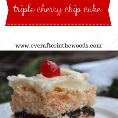 Triple Cherry Chip Cake from a CakeMix