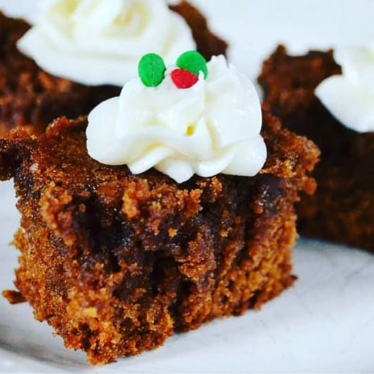 Rich and moist gingerbread bars what an easy and festivehellip