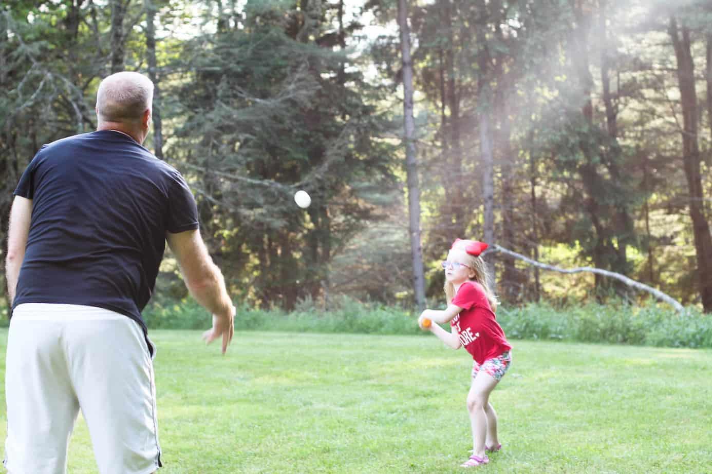 playing tee ball