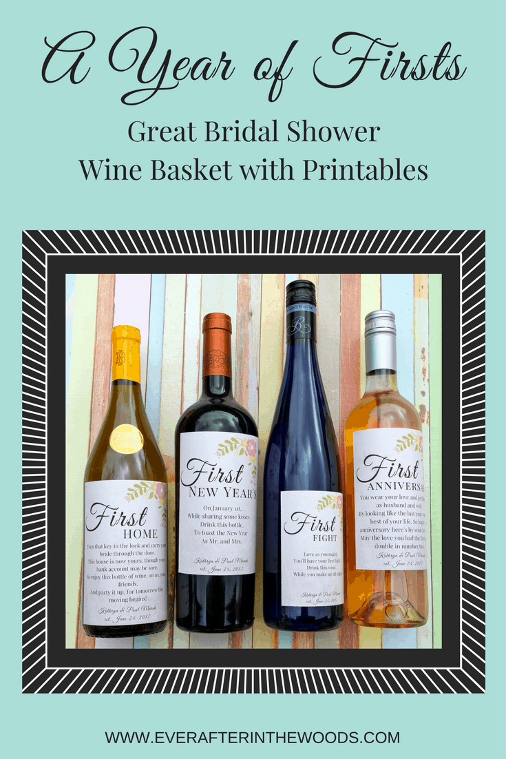 great bridal shower wine gift basket printables