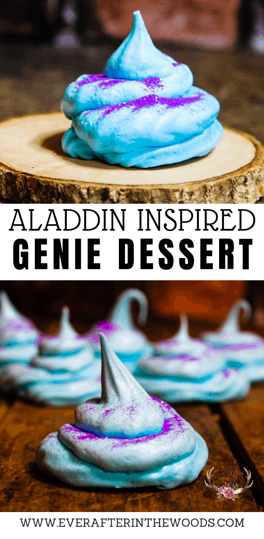 Aladdin Genie themed dessert