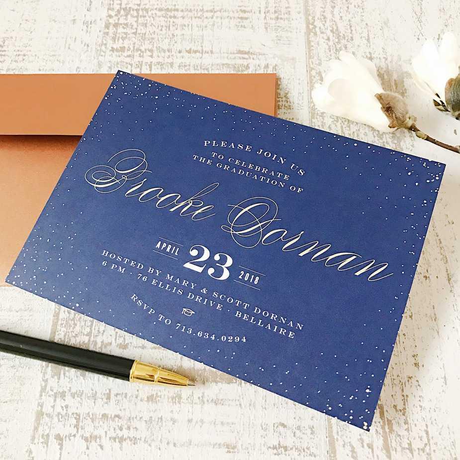 basic invite graduation invitation