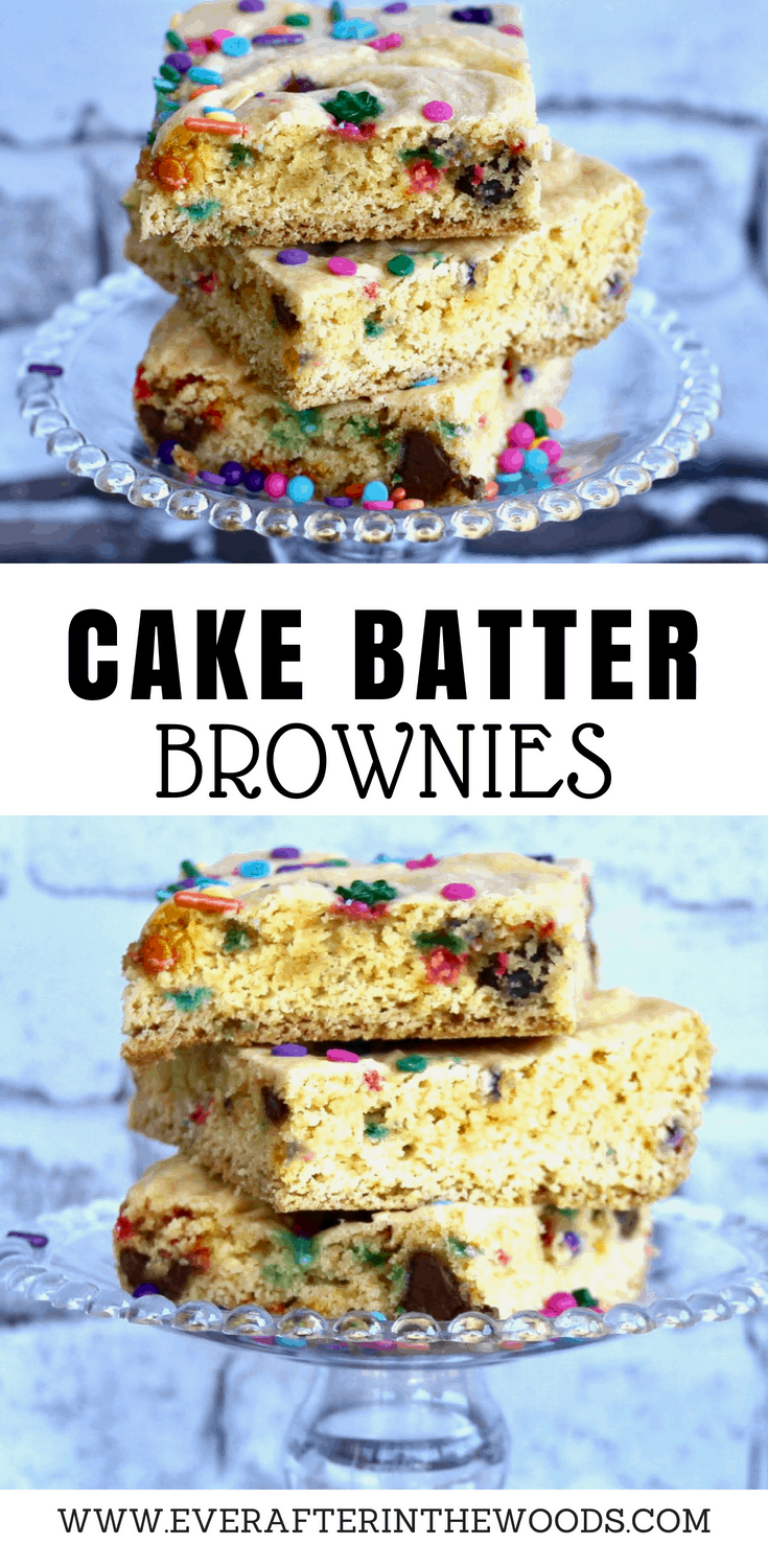 how to make cake batter brownies