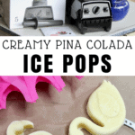 pina colada ice pop made in blender