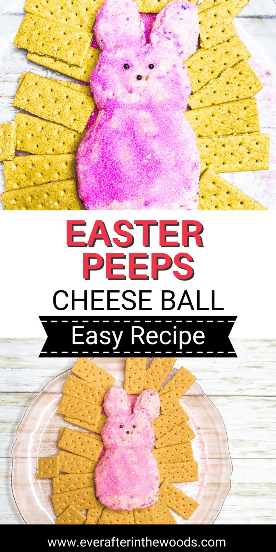 Easter Peeps Cheese Ball Dessert