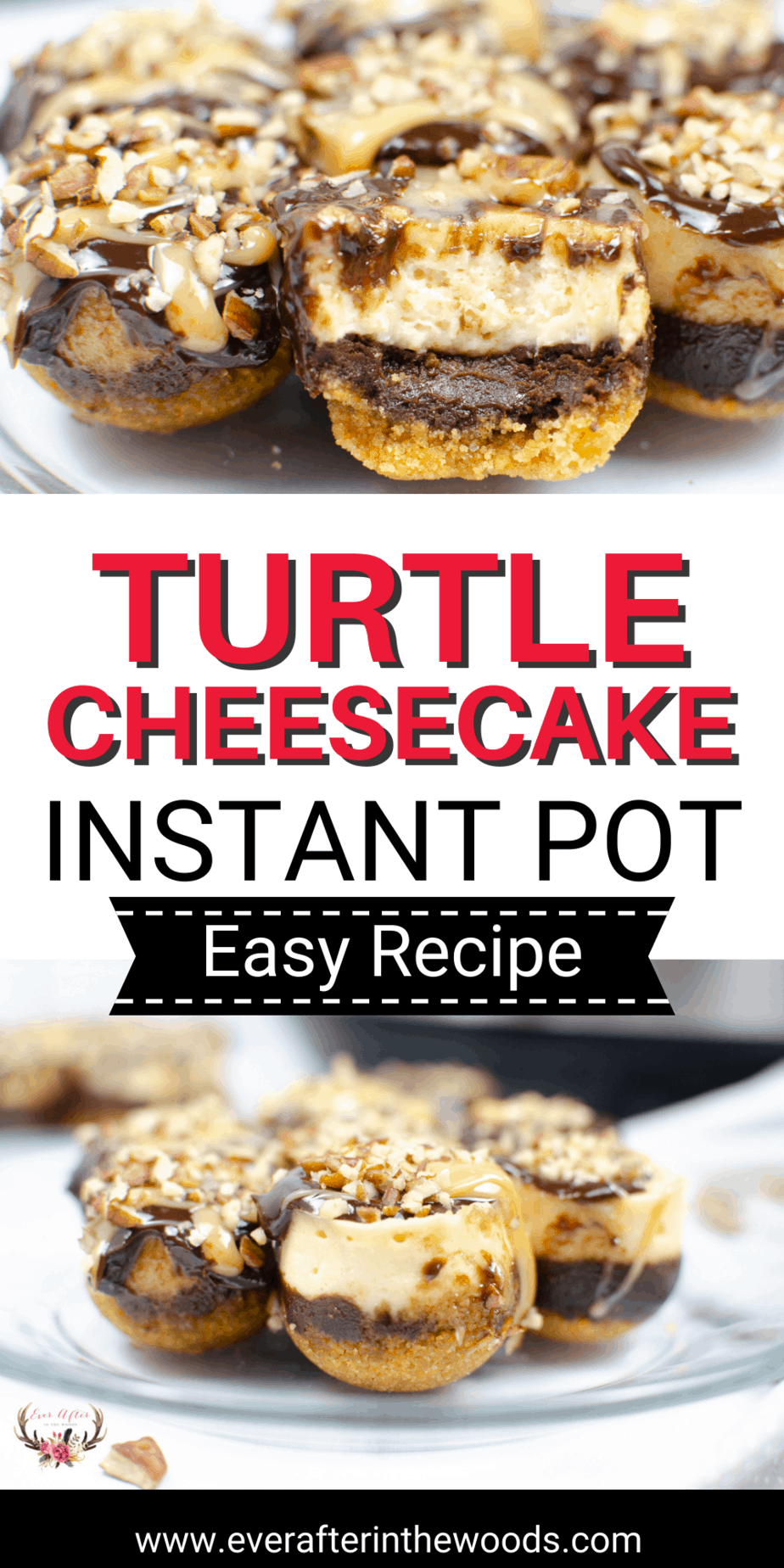 turtle cheesecake - instant pot