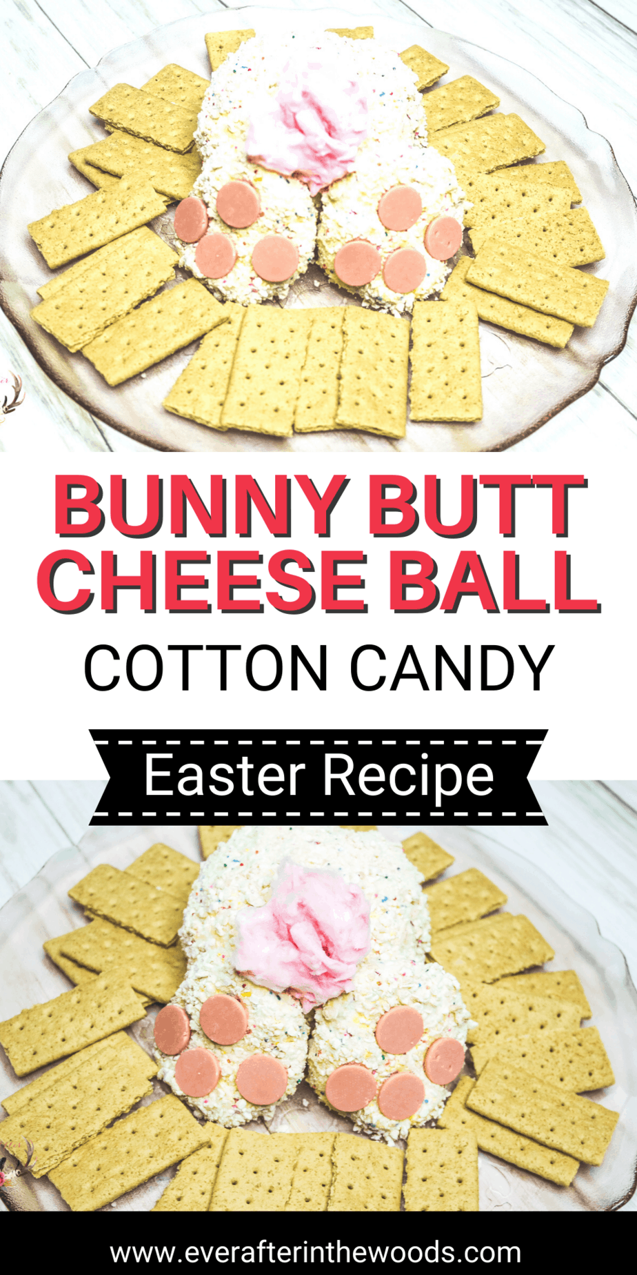 Bunny Butt Cheese Ball with Cotton Candy