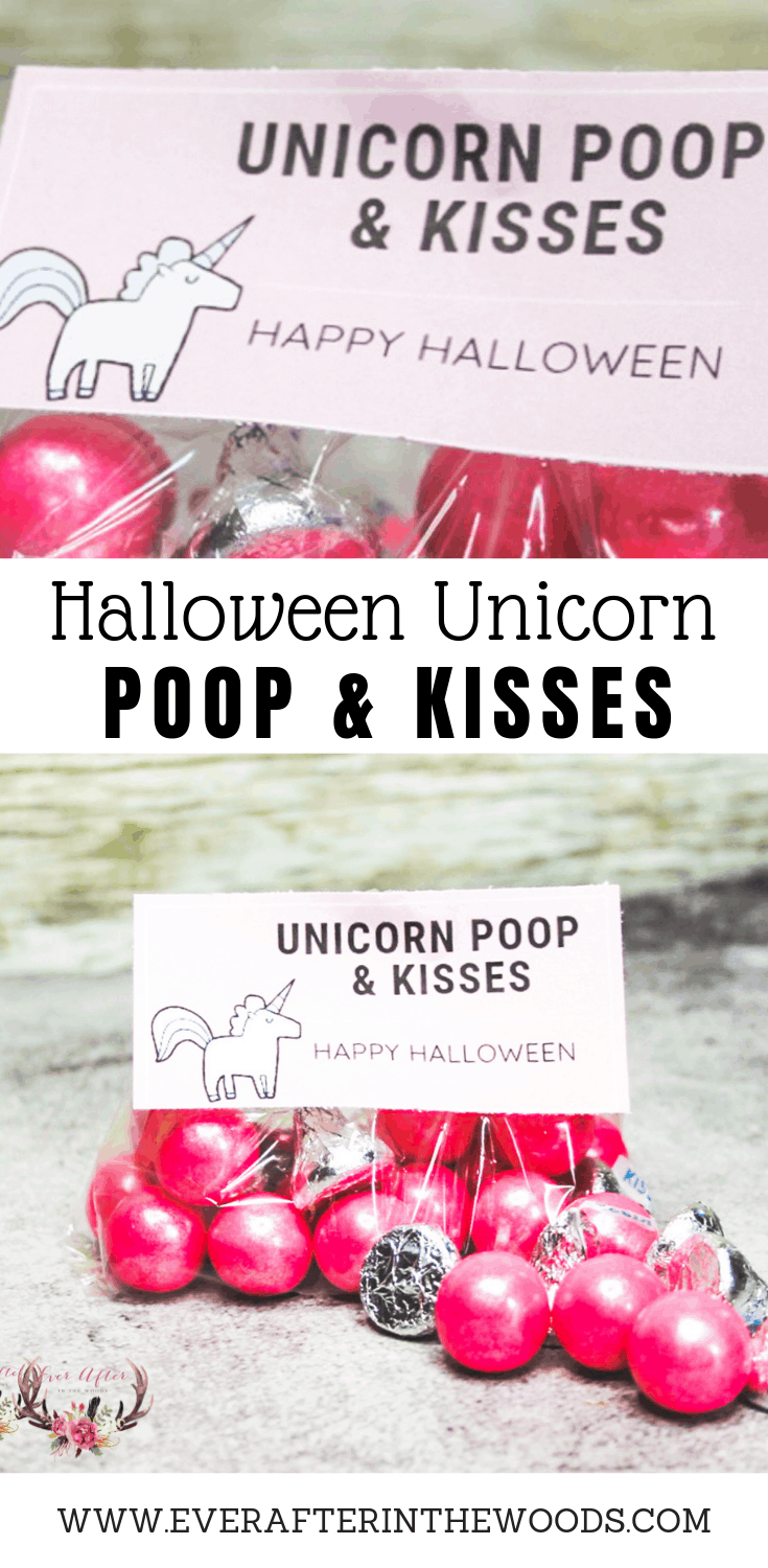 unicorn halloween treat bag printable | great idea for unicorn halloween tricky trunk