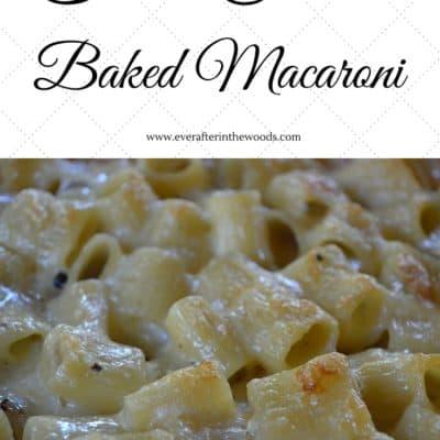 Baked Two Cheese Macaroni