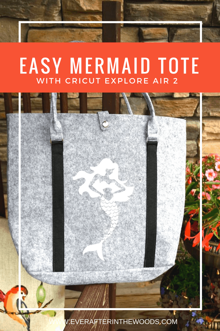 diy mermaid beach bag iron on cricut vinyl