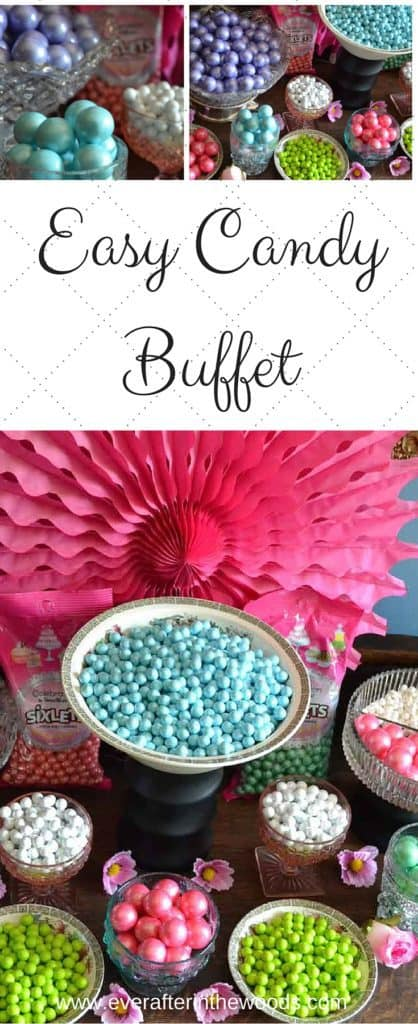 pink green blue candy buffet easy set up vintage