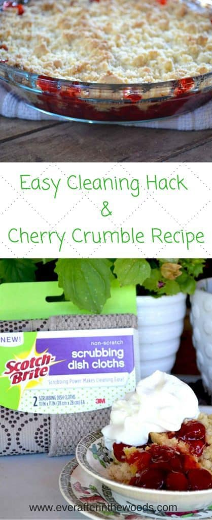 Easy Cleaning Hack &Cherry Crumble Recipe