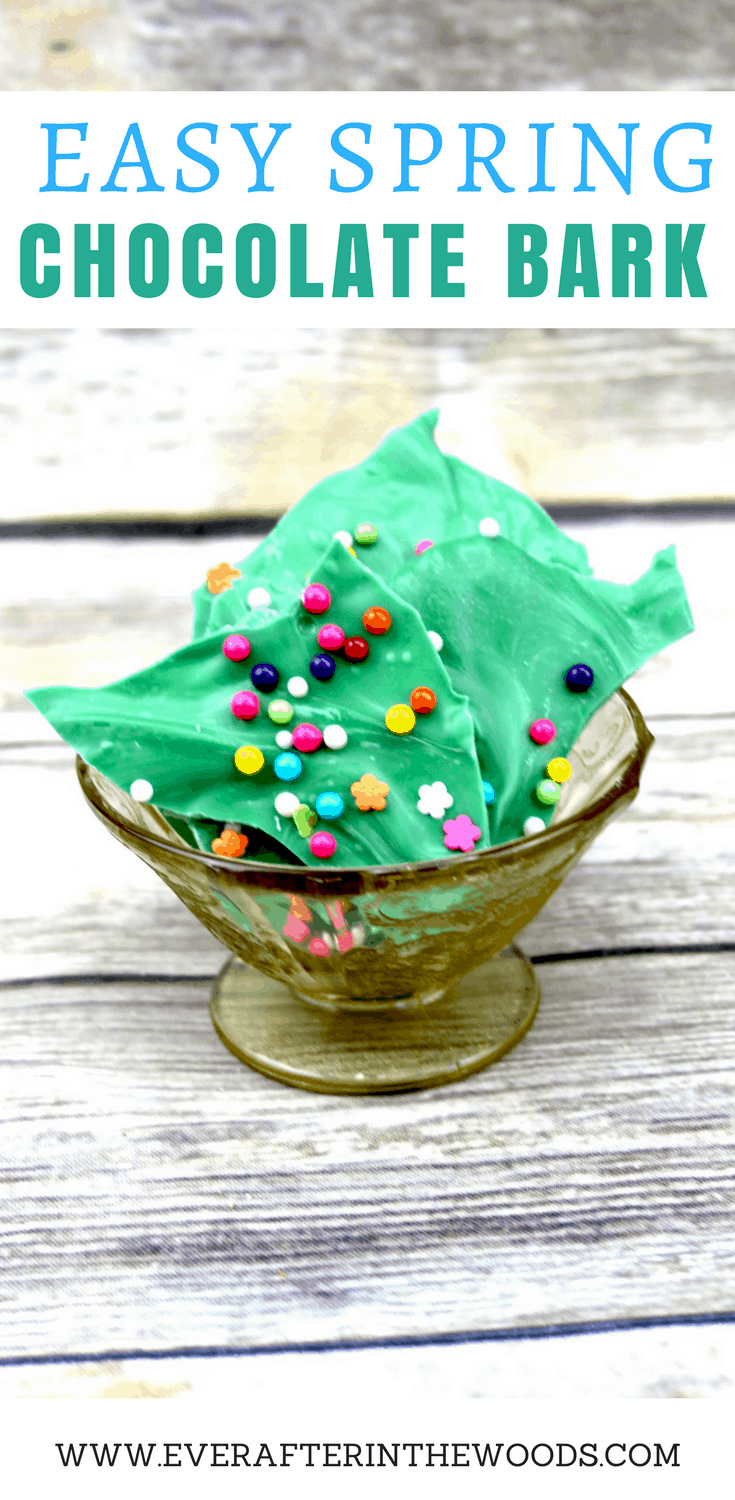 easy to make spring chocolate bark