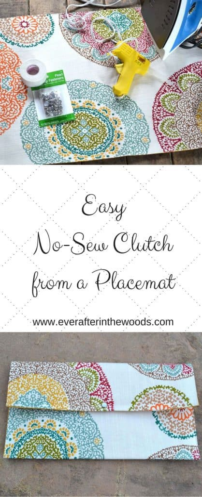 EasyNo-Sew Clutchfrom a Placemat