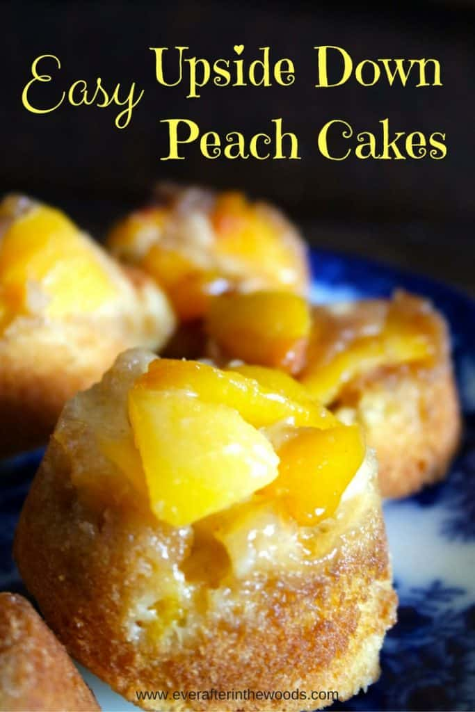 Easy Upside DownPeach Cakes