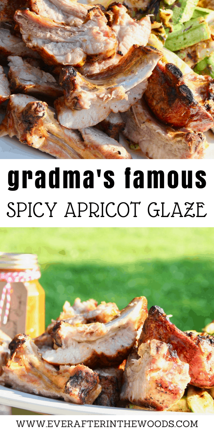 One thing that we love to grill up are Smithfield Extra Tender Pork Back Ribs. We use a variety of rubs and glazes but my Grandma's Spicy Apricot Glaze is definitely a family favorite.