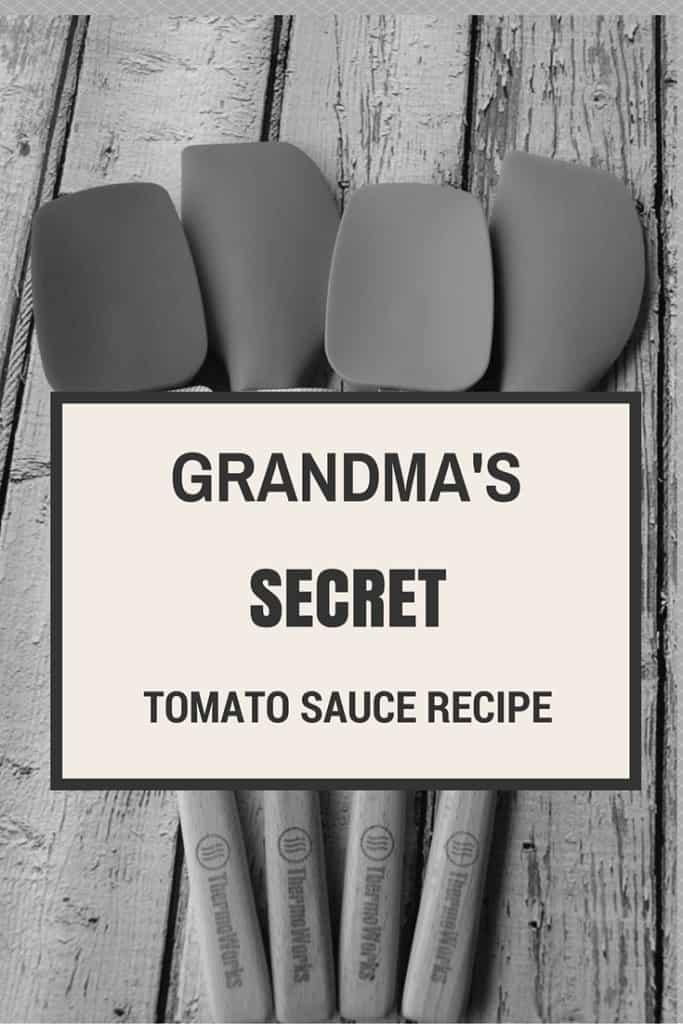 Grandma's Secret tomato sauce