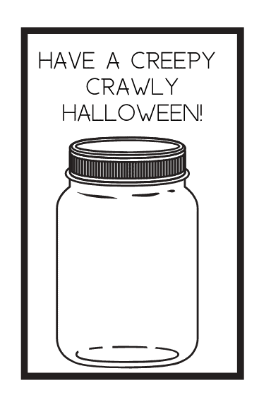 non candy treat ideas | Creepy Crawly Bug Printable treat