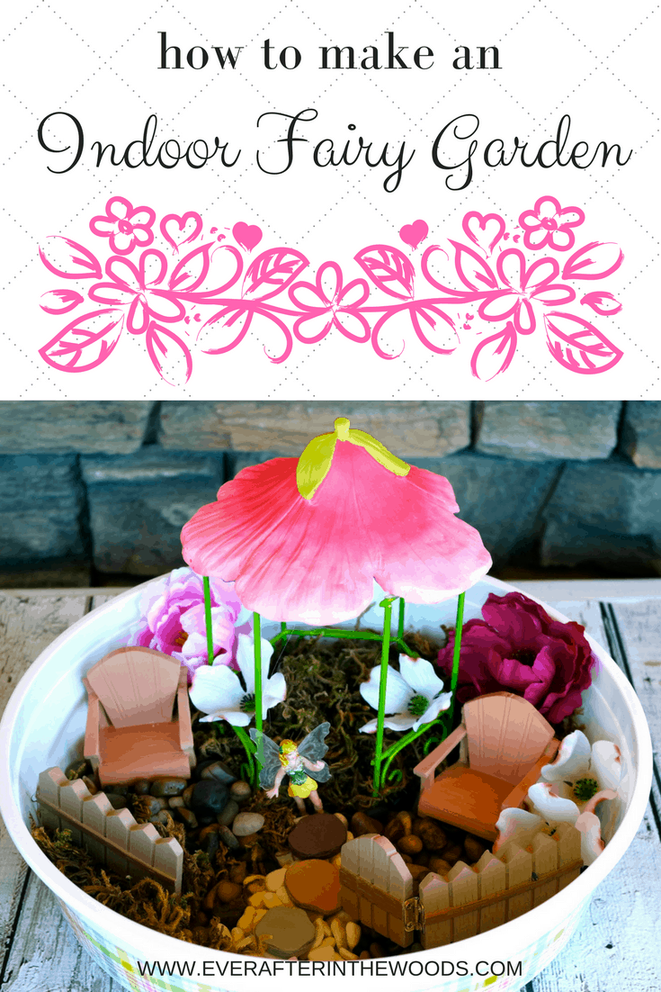 Easy indoor fairy or gnome garden for kids