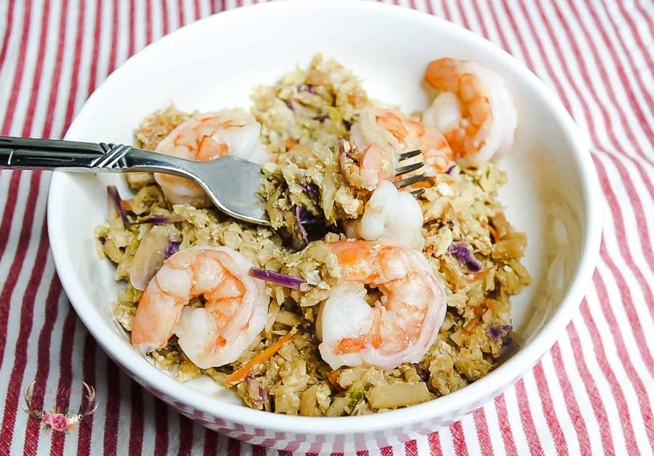 simple yet flavorful Shrimp Egg Roll Bowl