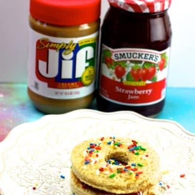 Peanut Butter and Jelly Donut Sandwiches