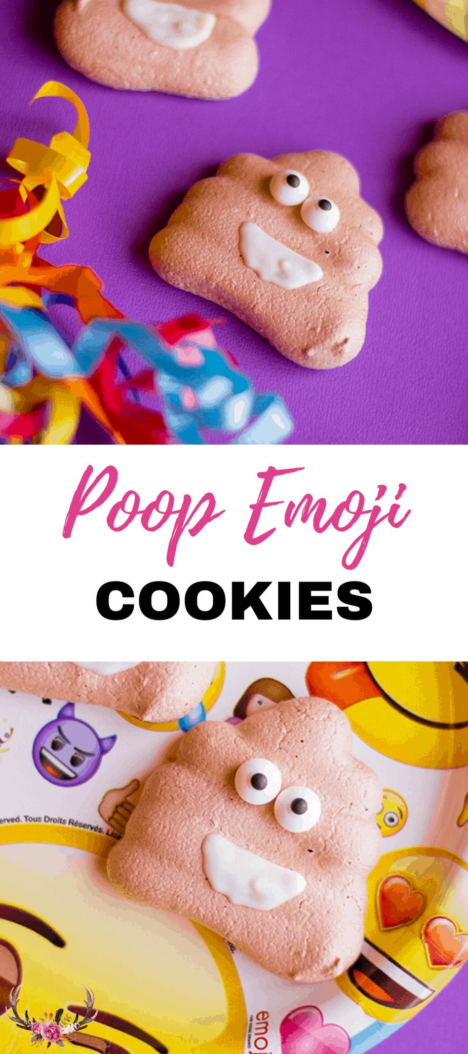 Poop emoji cookies are so cute and very easy to make.