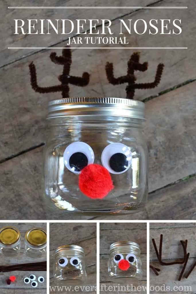 Cute Mason Jar Reindeer