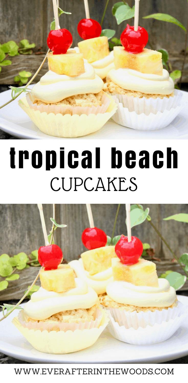pina colada tropical cupcakes