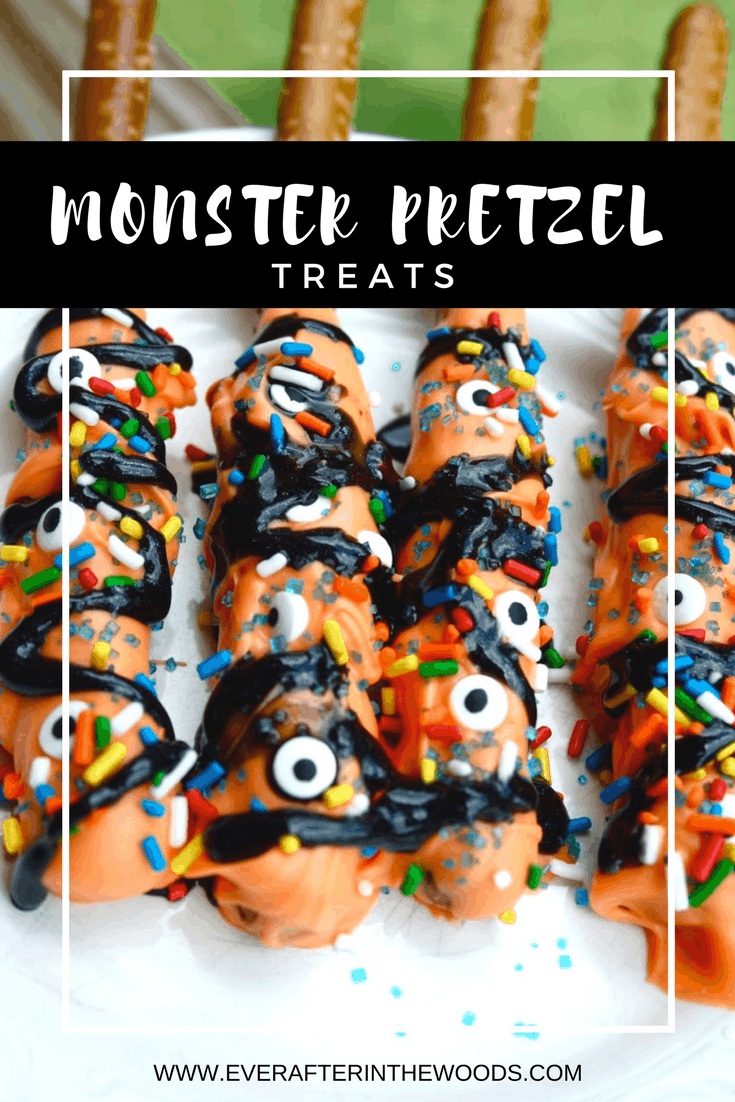 cute and easy chocolate pretzels for halloween