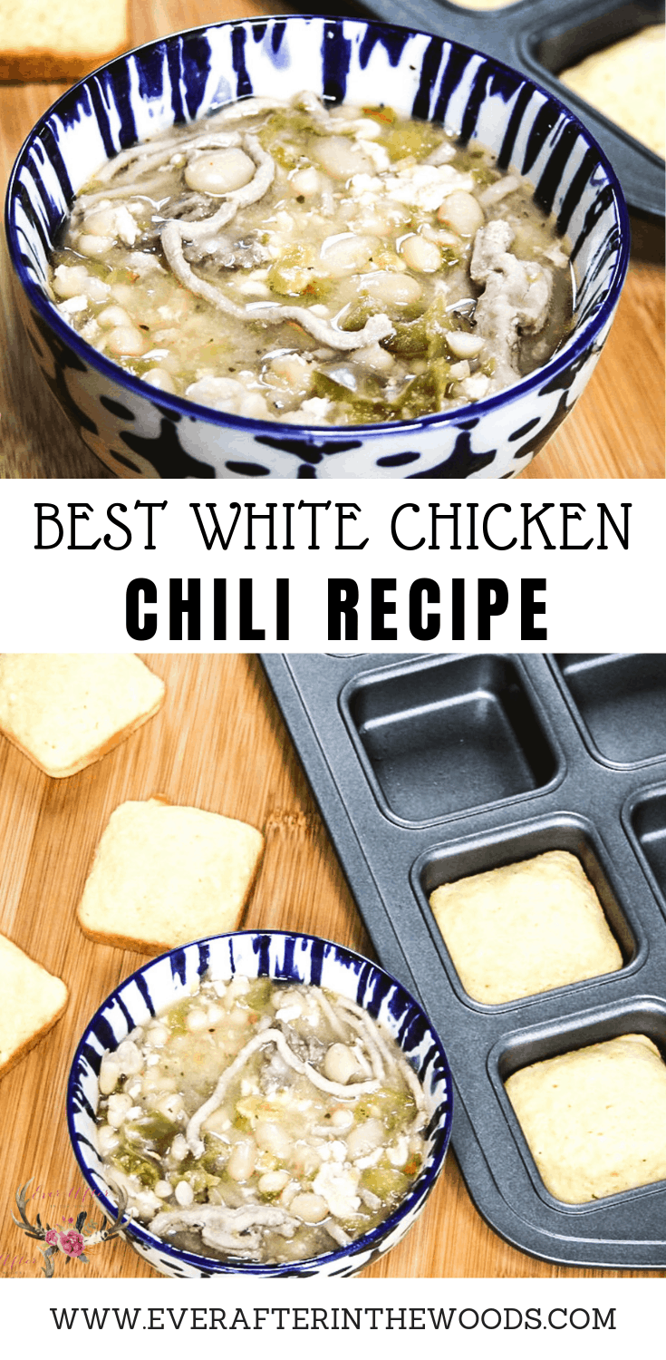 White Chicken chili is the ultimate game day food. This recipe can be made in a crockpot or stovetop and it always is delicious and comforting.