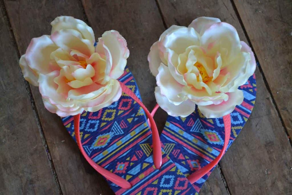 all-fresh-island-tropical-scent-diy-flip-flop-flowers