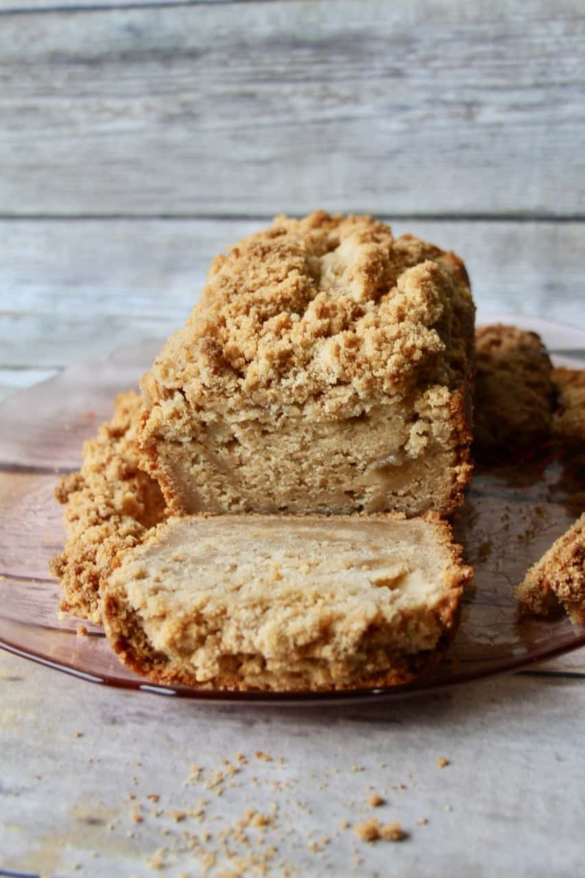 soft moist apple cake bread loaf