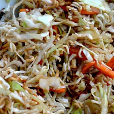 Healthy Asian Slaw Recipe with Ramen Noodles