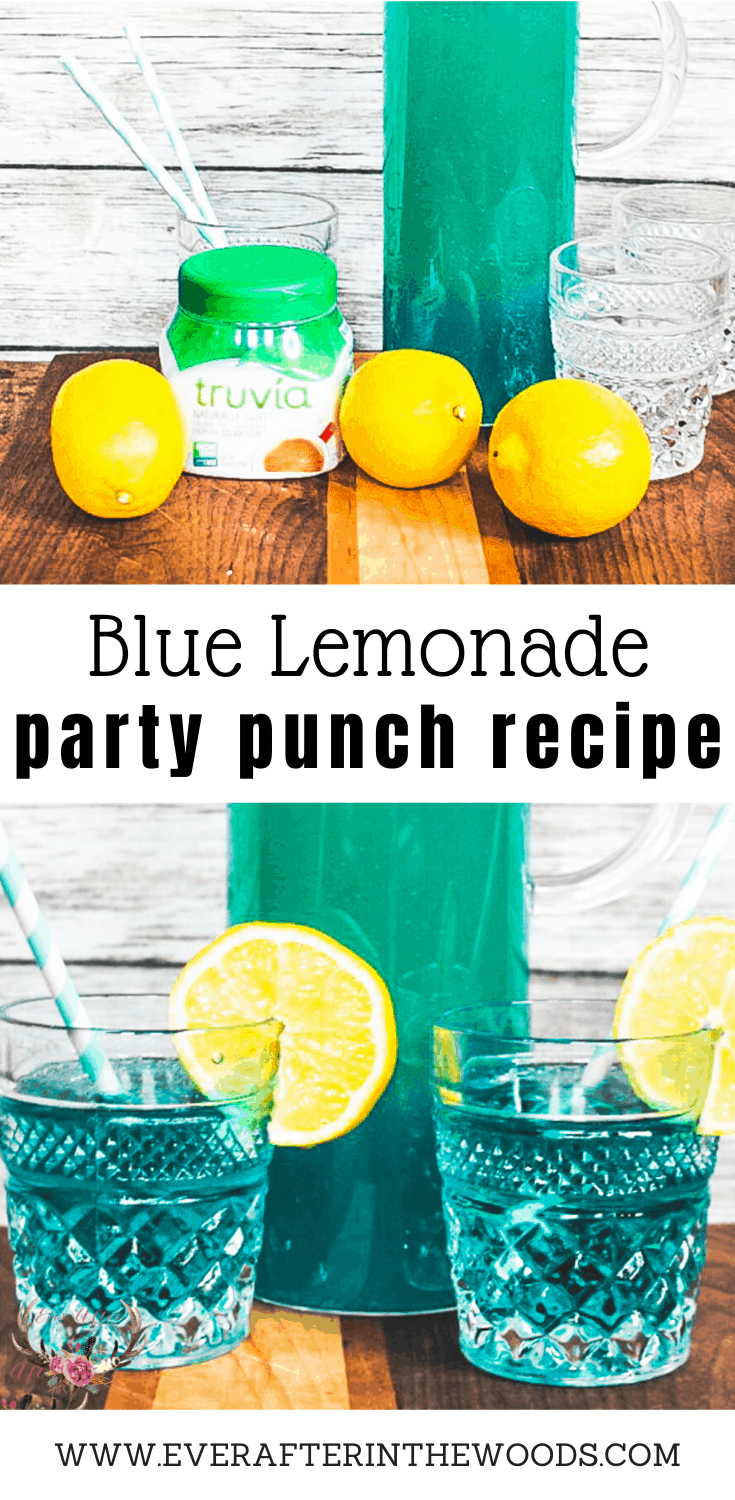 blue drink party punch