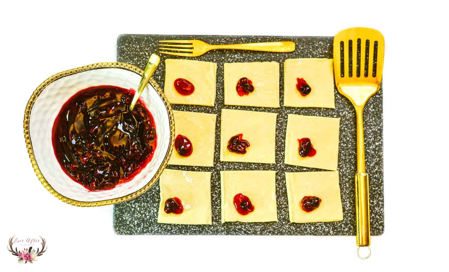 3 ingredient blueberry pastries