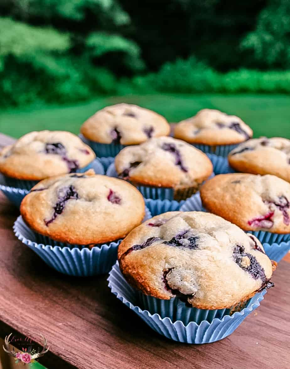 We love to have fresh homemade blueberry muffins on hand at the house all year long but they are extra special during the summer months.