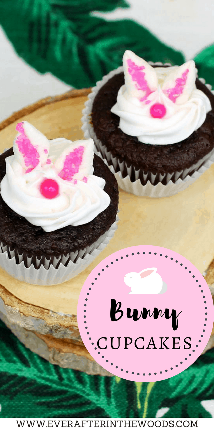 easy to make bunny cupcakes perfect for Peter Rabbit baby shower or birthday parties