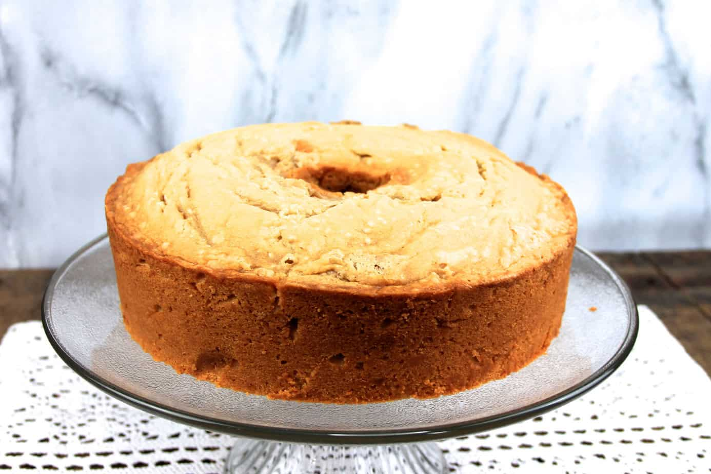brown sugar pound cake | slice of pound cake |angel food pan