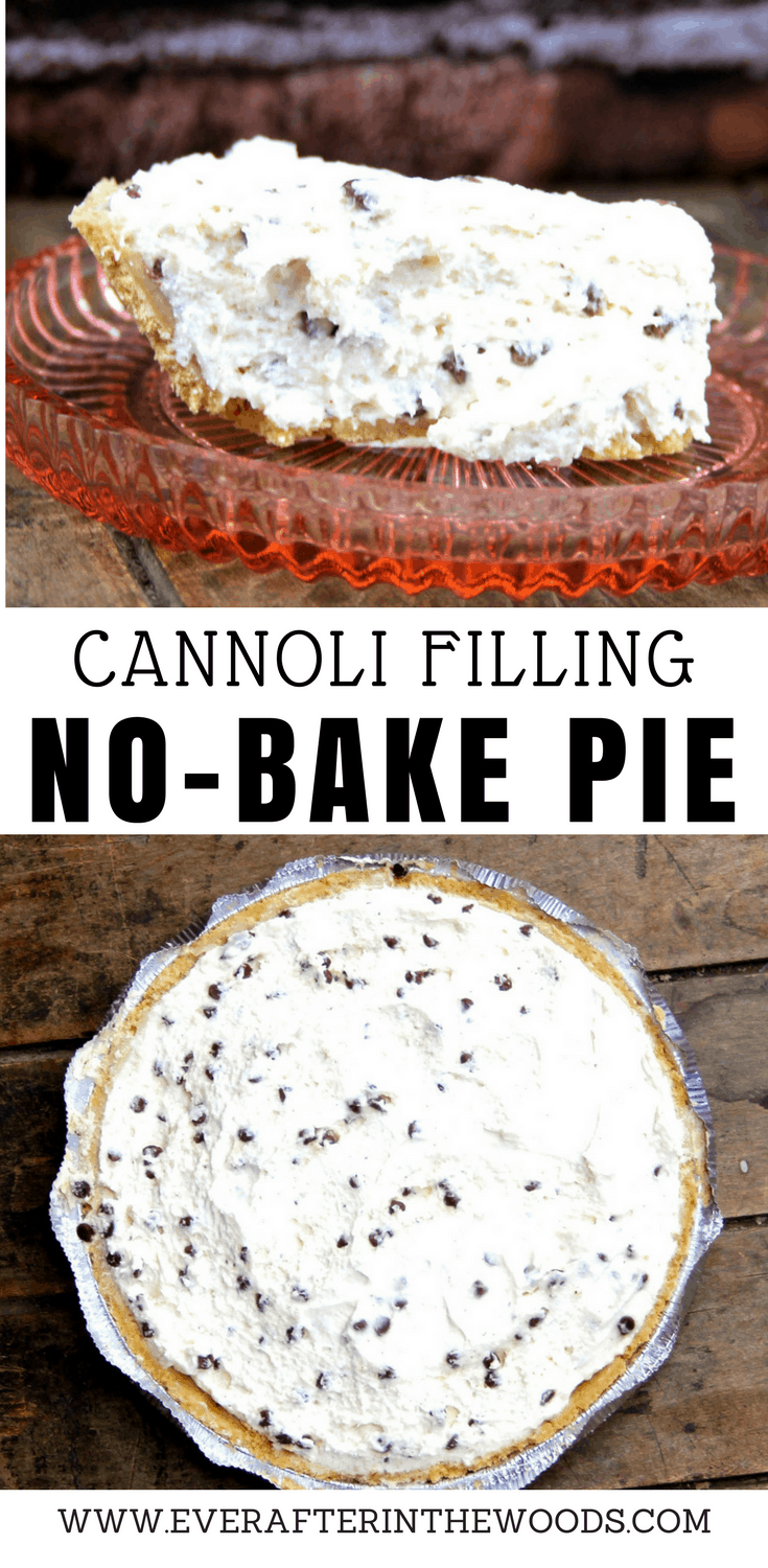 no bake ricotta cannoli filling