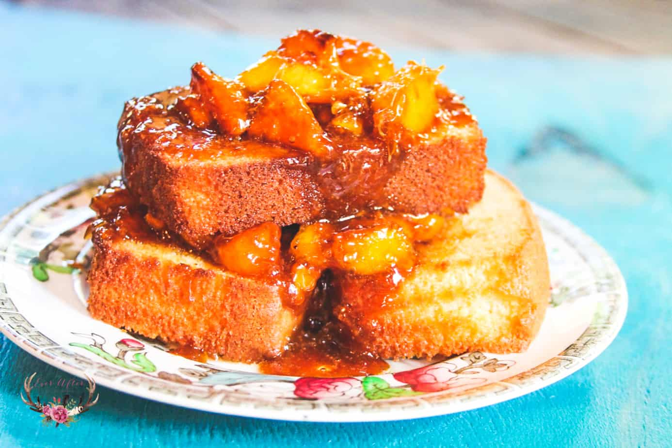 peach caramel pound cake