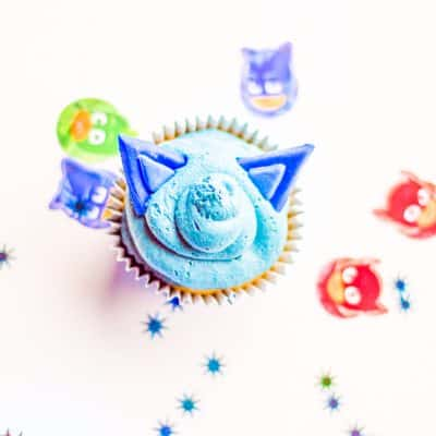 These Cat Boy Cupcakes are sure to be a big hit if you have PJ Masks fans in your home.