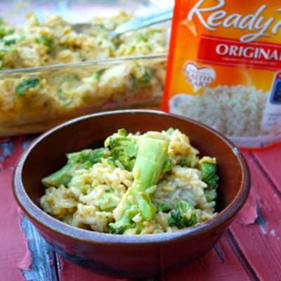 Cheesy Broccoli Rice Bake Recipe
