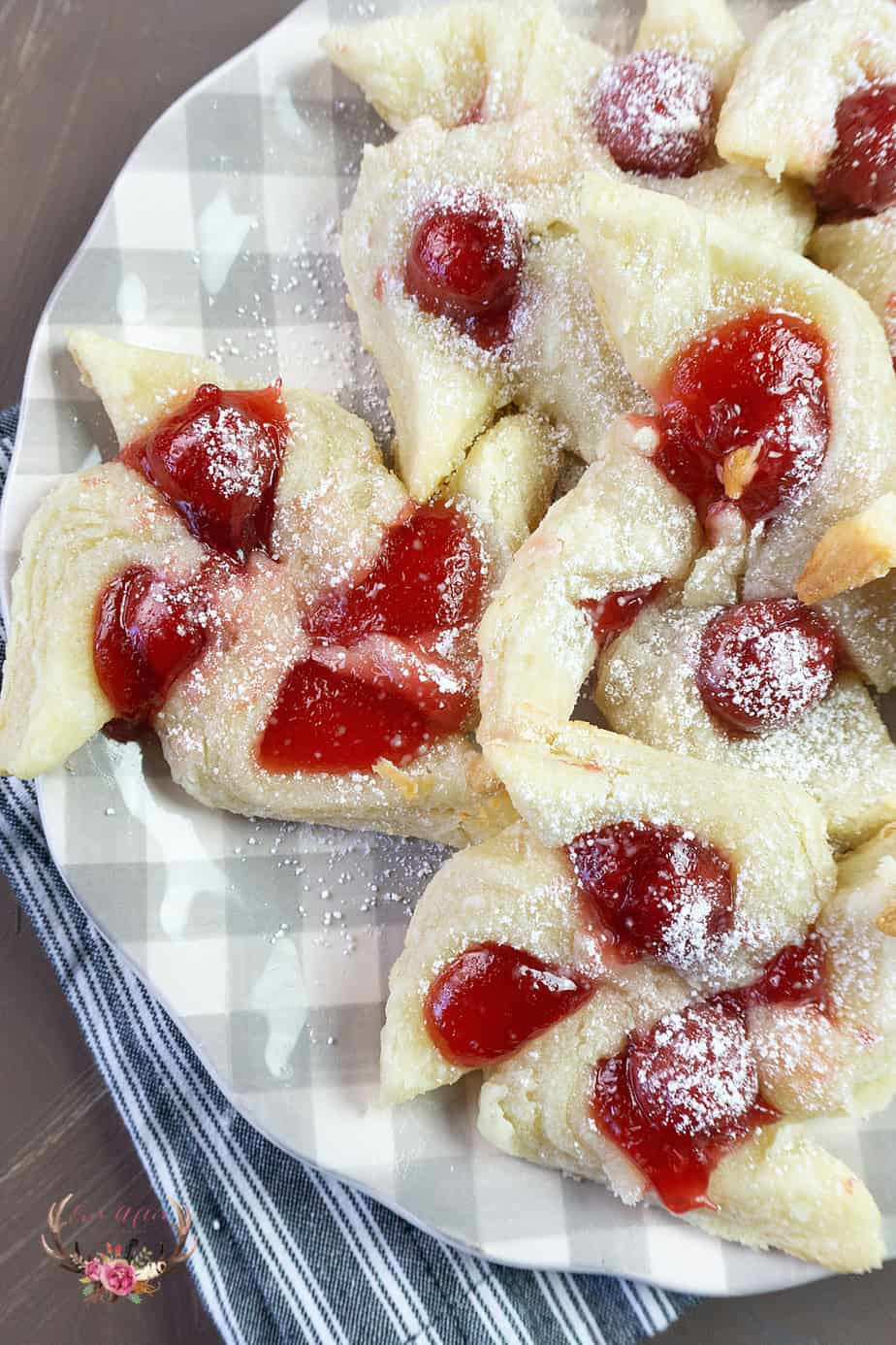 Cherry Cream Cheese Pinwheel Cookies