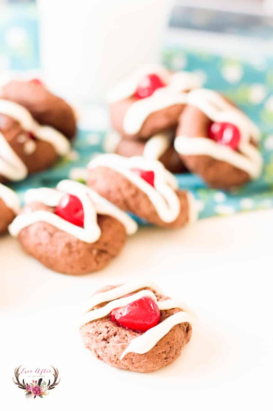 cherry chocolate cookie