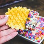 easy rainbow sprinkle dessert dip