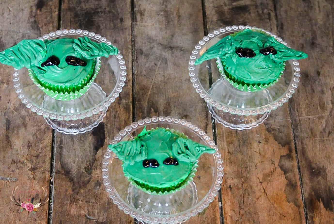 baby yoda cupcakes disney +