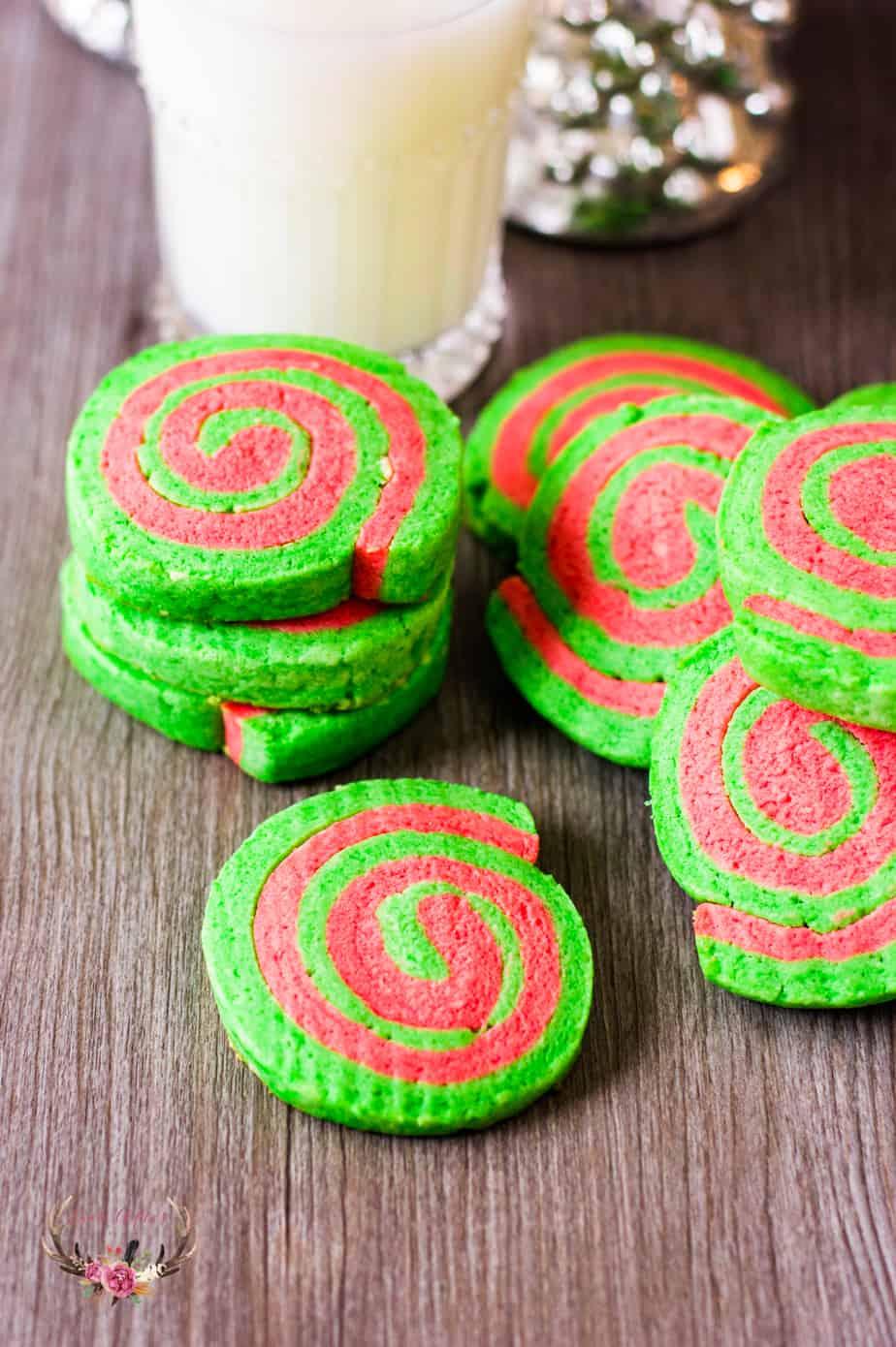 Christmas Pinwheel Sugar Cookies